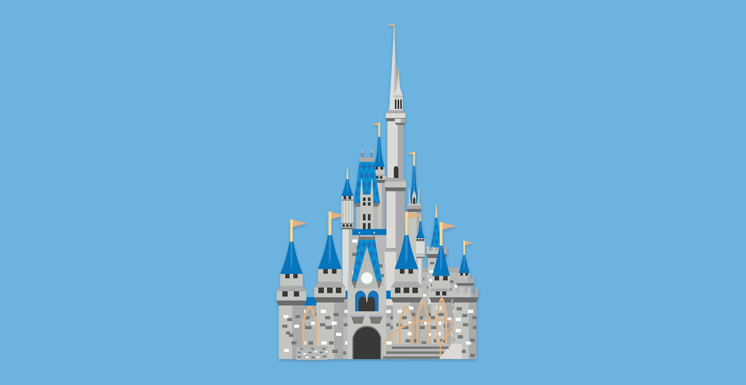 Cinderella's castle by itself
