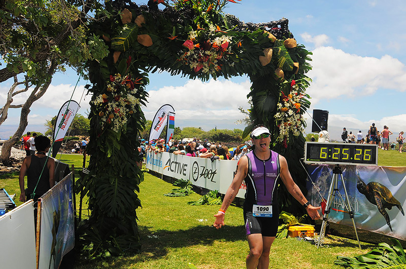 Ironman 70.3 Hawaii finish photo