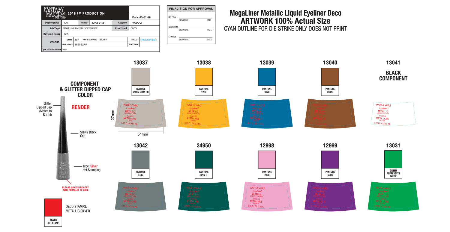 Mega Liner Liquid Metallic Eyeliner Production