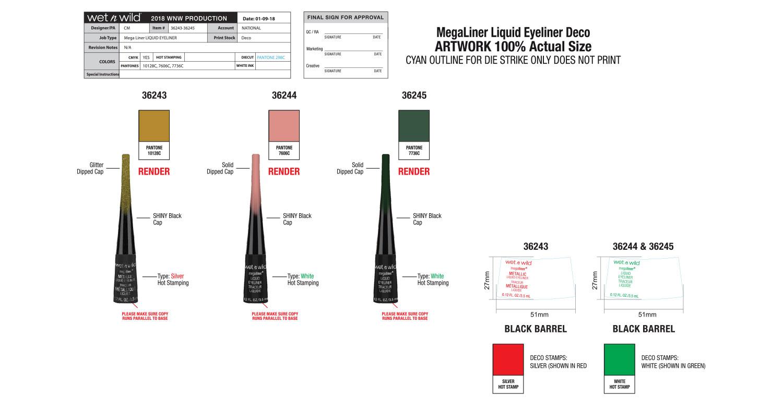 Mega Liner Liquid Eyeliner Production
