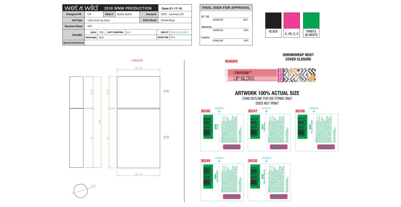 Color Icon Lip Gloss Production