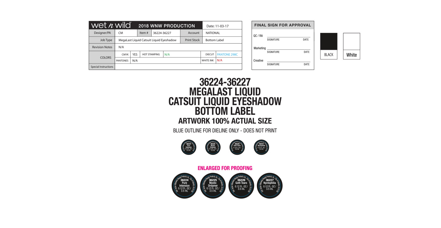 Mega Last Liquid Catsuit Eyeshadow Production